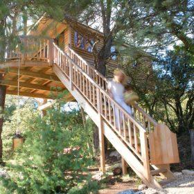 Cabane dans les arbres Valvert